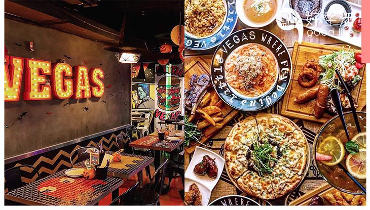 【銅鑼灣美食】「小拉斯維加斯」銅鑼灣賭城主題Little Vegas餐廳,展現美式餐飲活力!