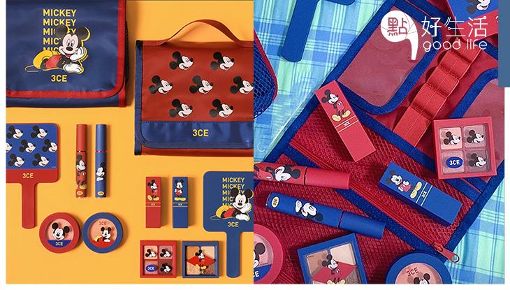 美到爆炸!韓妝品牌3CE聯乘迪士尼推「米奇彩妝系列」復古可愛風格盡現,必須整套收入!