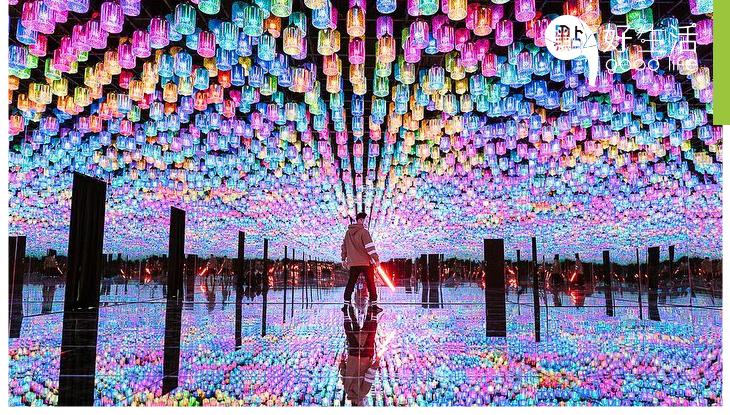 【美到犯規了】台中美翻天展覽宙影幻鏡 以科技重新呈現光影之美!恍如走進超現實世界一樣