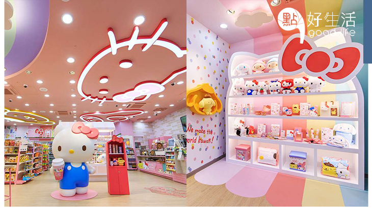 全部都是Sanrio!台灣7-11設立「Sanrio聯乘期間定店」超大Kitty成焦點、全店滿滿周邊商品!