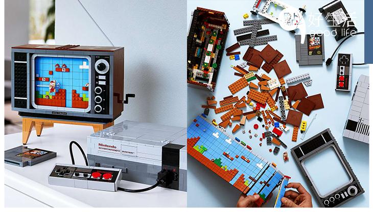 LEGO竟然把「任天堂主機NES」神還原!就連電視和遊戲卡帶都能完美呈現,根本是衝著機迷的心而來吧!