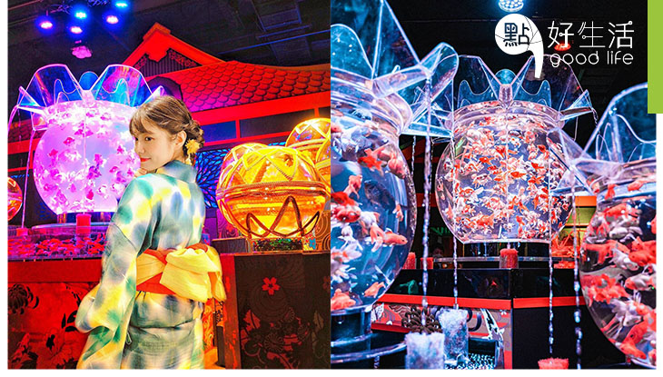 【不一樣的水族館】最新日本東京Art Aquarium美術館! 3萬條金魚組成的藝術展!以裝置設計+燈光+投影科技締造極緻夢幻氛園