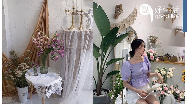 小姐姐們必愛!廣西南寧「菈比花園」白色的治癒系韓式花店,買鮮花更可以租借野餐用品,簡直是夢幻配搭!