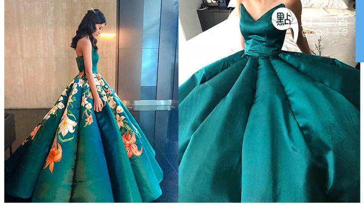 你相信這條舞裙是DIY的嗎? 17歲少女自製夢幻畢業禮服