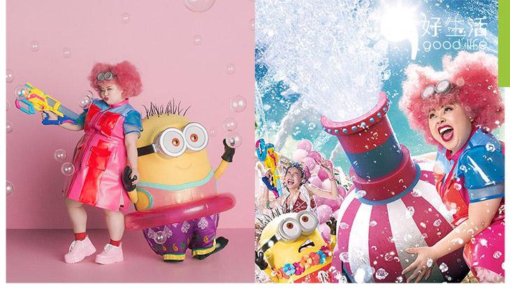 與 Minions 渡邊直美齊濕身 大阪環球影城推夏日新活動!齊玩360度濕身 Party