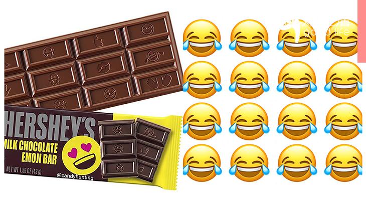 每款都想要!Hershey's推出多款全新Emoji包裝朱古力,裡面每粒都有不同的表情公仔!