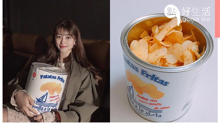 韓妹手上一人一桶!被喻為最健康的「油漆桶」薯片,零罪惡感的打卡零食!