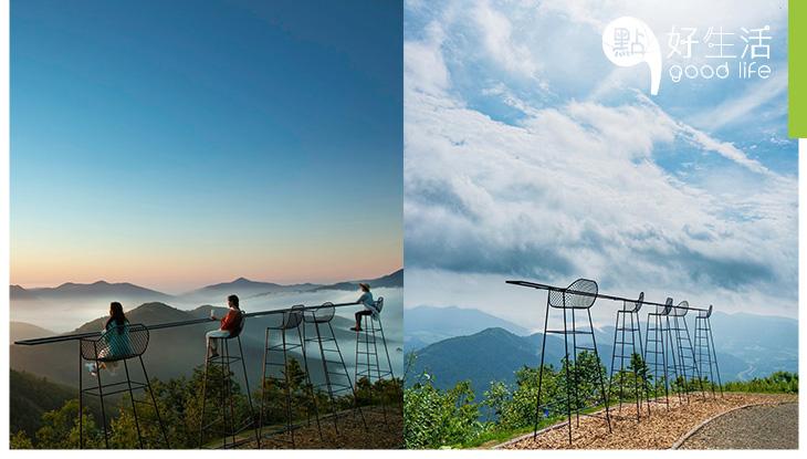 絕色美景,人生必到景點!雲頂上的酒吧! 坐上3米高凳上,飽覽一望無際的雲海