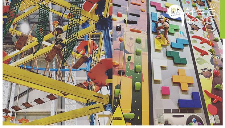 【召集甩繩馬騮】日本最大室內體育競技館NOBOLT開幕 16項多元化運動遊戲!超刺激,13米高繩網陣 + 室內滑翔
