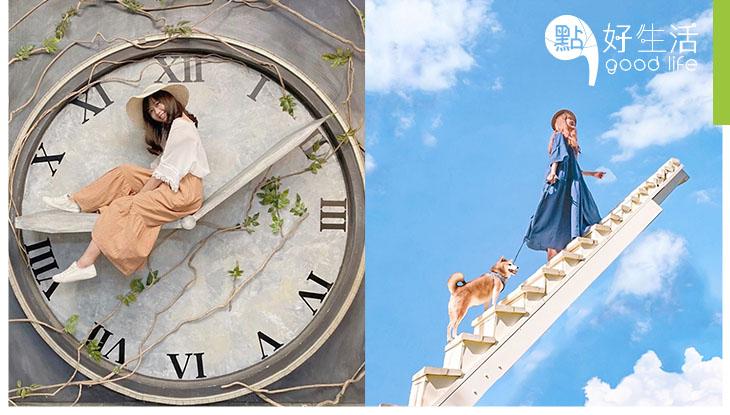 【拍照拍個手不停】台灣苗栗莫內秘密花園 5大夢幻主題,50個絕美場景!必影水中鞦韆 + 巨型時鐘 + 白色教堂!