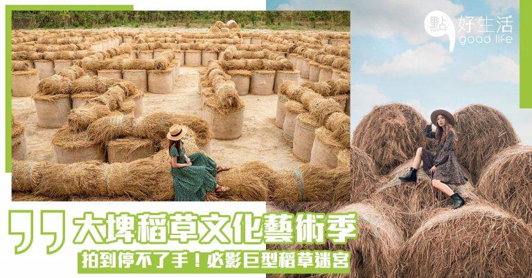 【拍到停不了手】是青春感覺啊!台灣雲林大埤稻草文化藝術季!藝術村以稻草稻米為主題,必影必玩巨型稻草迷宮,原來稻草也這麼好玩?