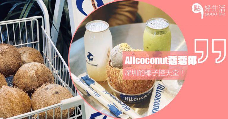 椰子控的天堂~深圳「Allcoconut蔻蔻椰」主打各款椰子飲品、甜點,特別推薦充滿泰國感覺的椰星碗!