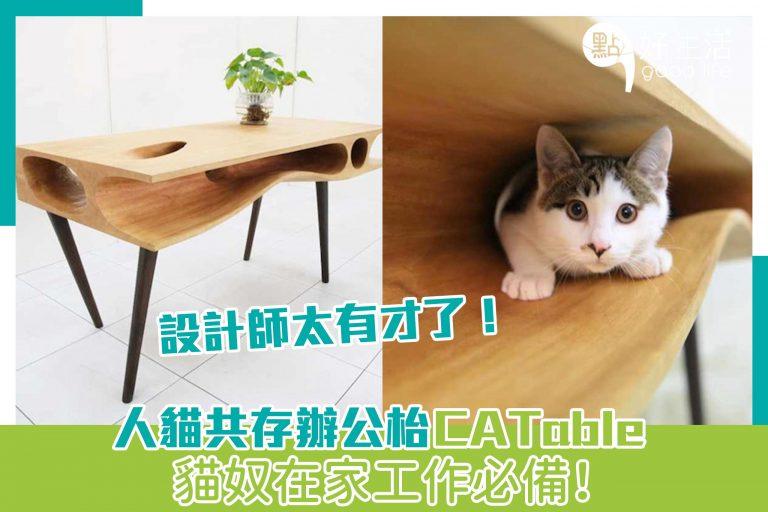 人貓共存辦公枱CATable,貓奴在家工作必備!設計師太有才了!